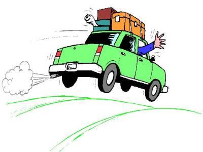 Free cartoon car driving. Driver clipart drive away