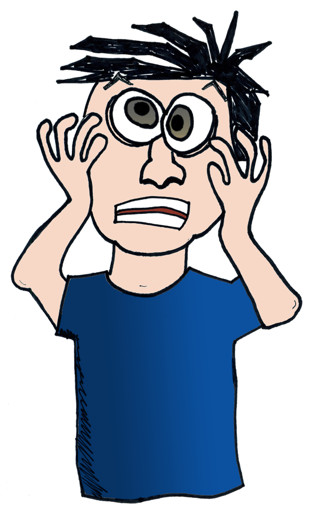 Nervous clipart hard. Just like that august