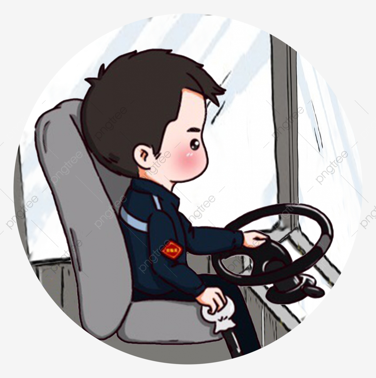 Hand painted labor day. Driver clipart driver seat