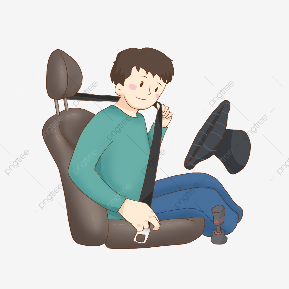 Traffic safety day belt. Driver clipart driver seat