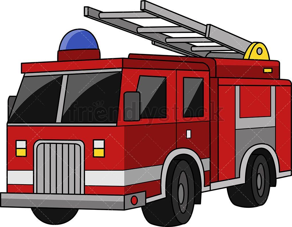 Fire truck clip art. Firetruck clipart siren