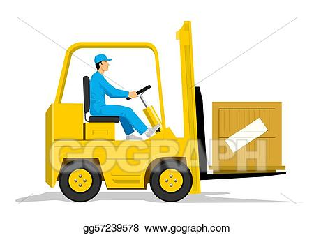 Forklift clipart forklift driver. Eps illustration vector gg