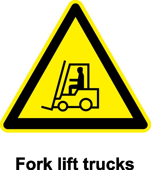 Sign fork lift trucks. Driver clipart forklift