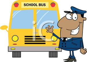 Driver clipart front. A bus standing in
