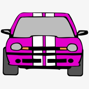 Driver clipart front. Driving pink car view