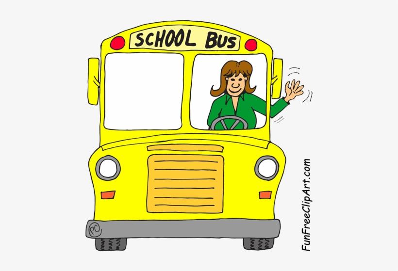 School bus happy . Driver clipart front