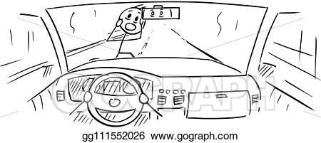 Driver clipart hand on. Vector stock cartoon of