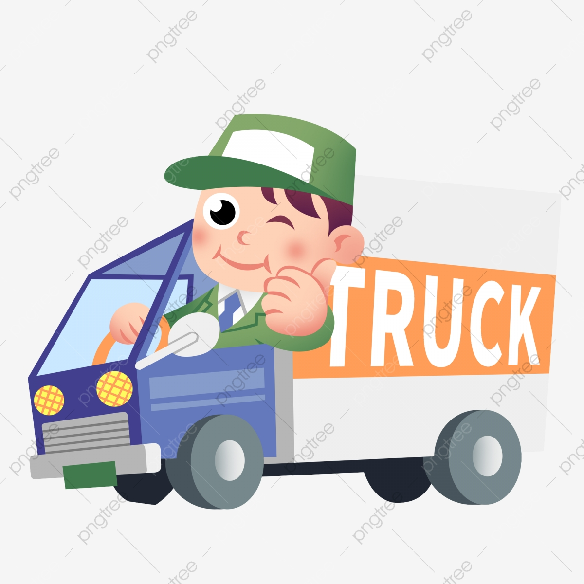 Driver clipart hand on. Cartoon drawn open truck