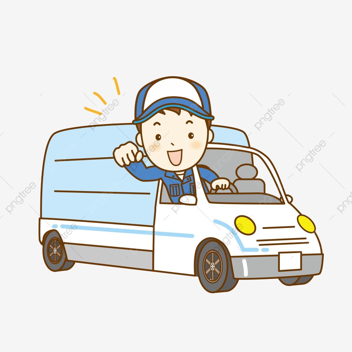 May labor day cartoon. Driver clipart happy