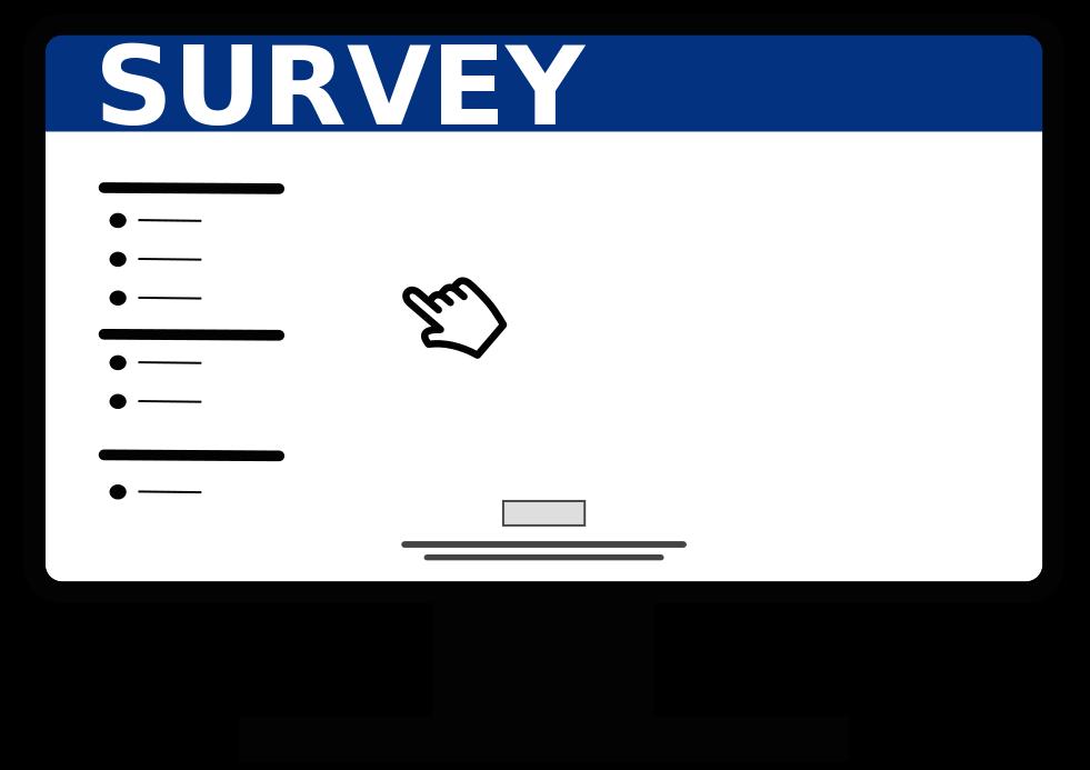 Voyage evaluation survey. Driver clipart of course