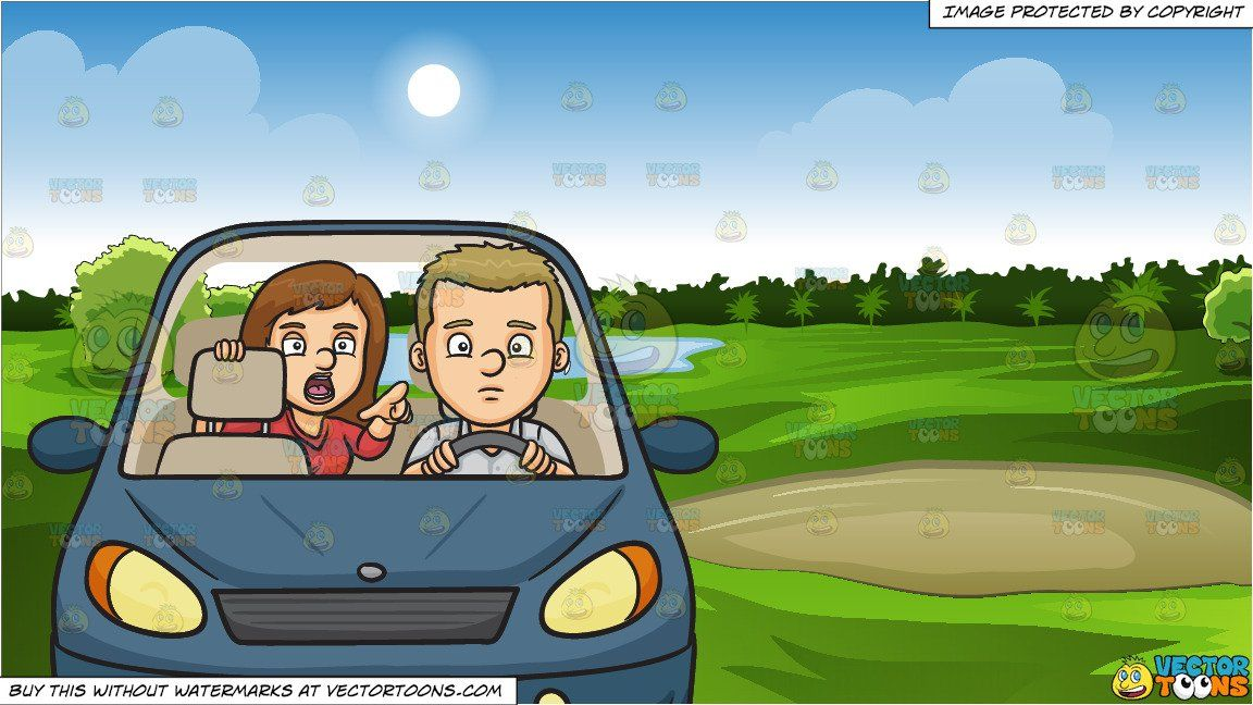 Driver clipart of course. Cartoon backseat and green