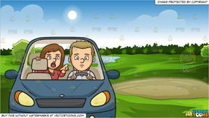 Driver clipart of course. Backseat and green golf