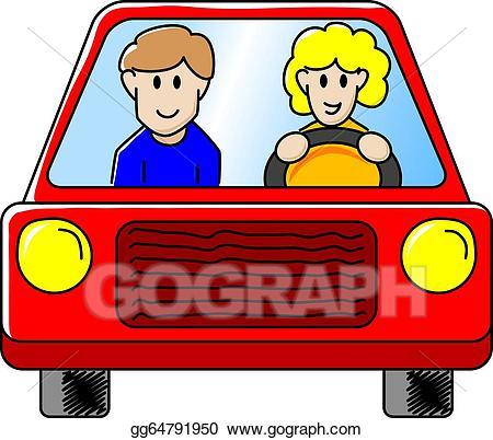 Vector art driving the. Driver clipart person
