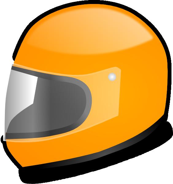 Yellow racing helmet clip. Driver clipart racer
