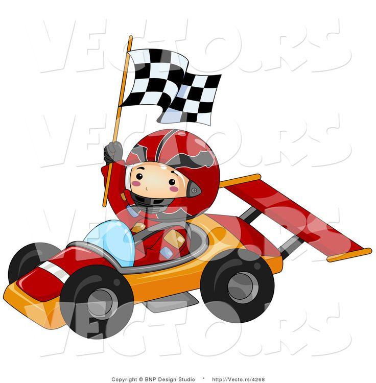 Race car cartoon pictures. Driver clipart racer
