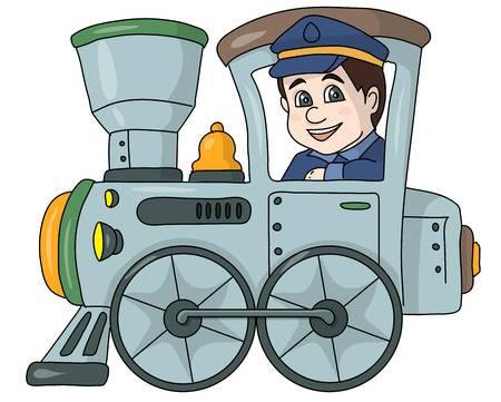 Cliparts making the web. Driver clipart train driver