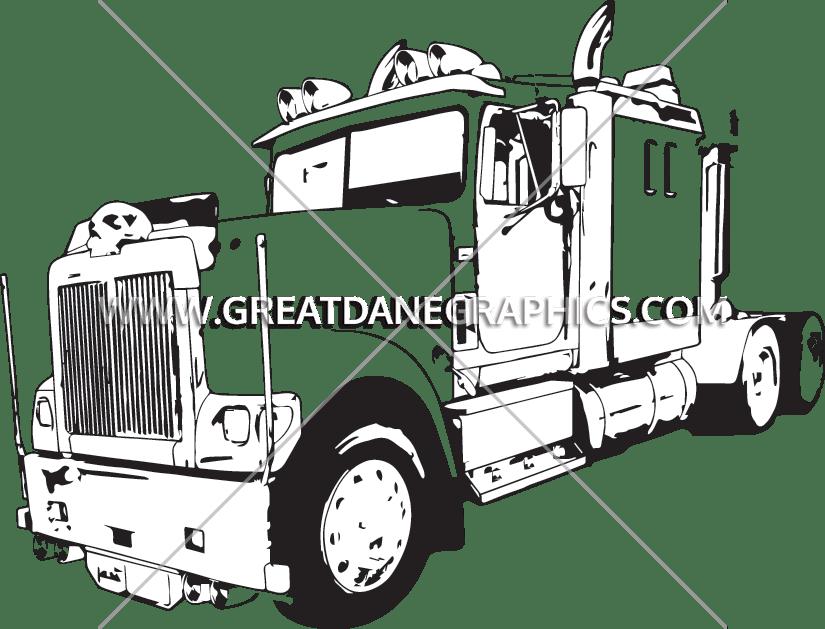 Driver clipart trucker. Big bad truck production