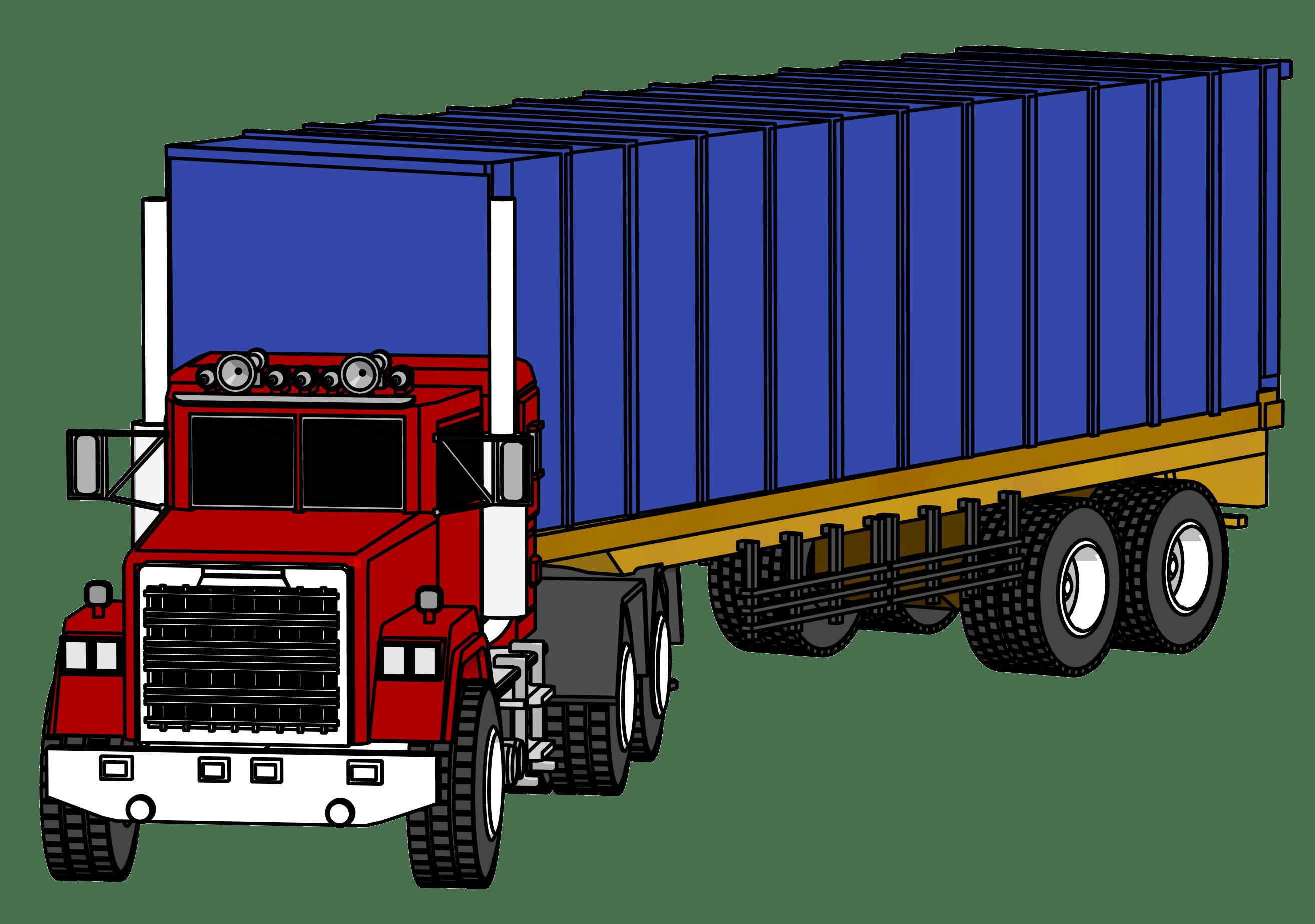 Driver clipart trucker.  wheeler truck at