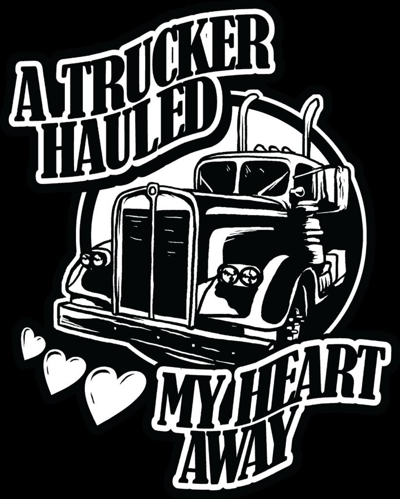 Driver clipart trucker. Free sticker a hauled