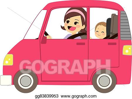 Eps vector mom driving. Driver clipart vehicle safety