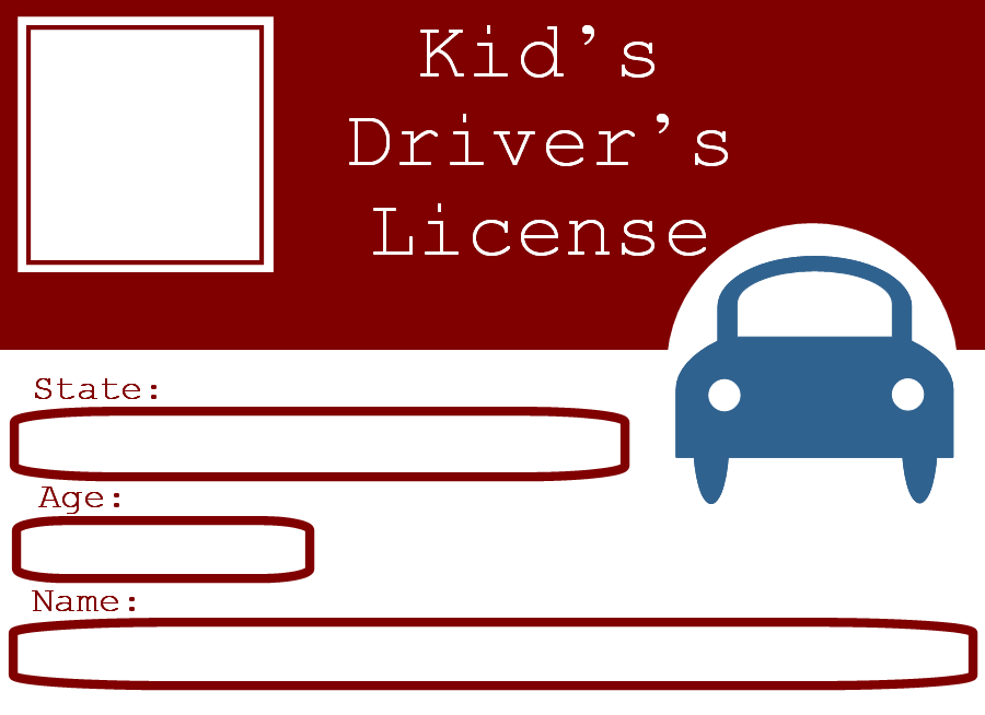 Free n images printables. Drivers license clipart