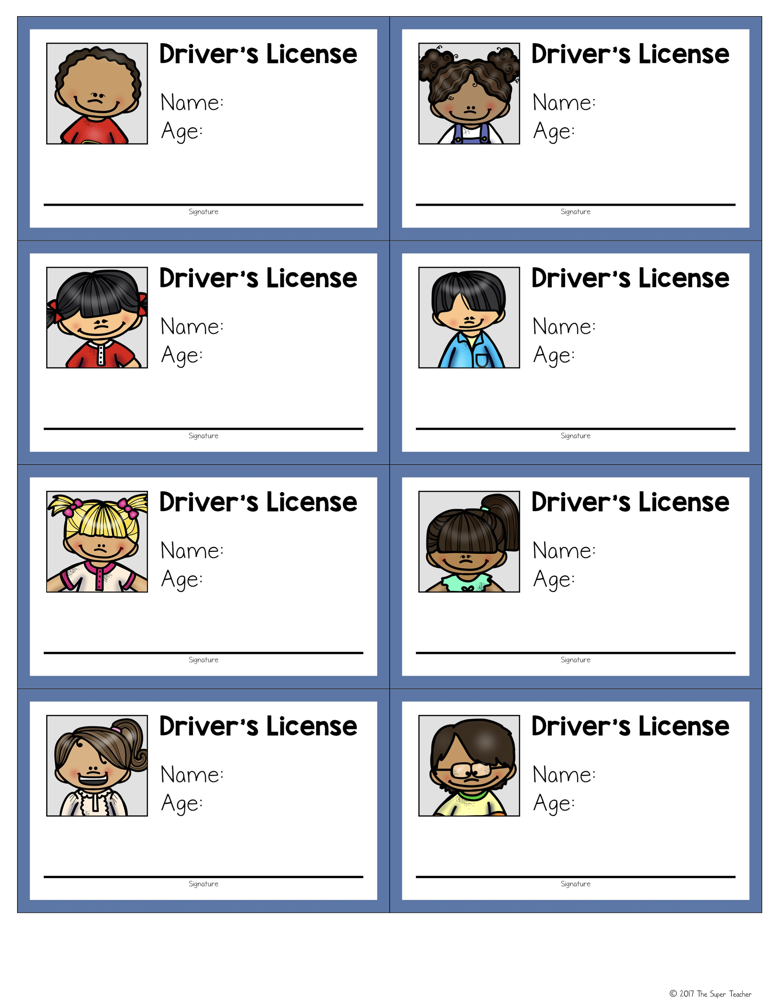 Drivers license clipart. How to make a