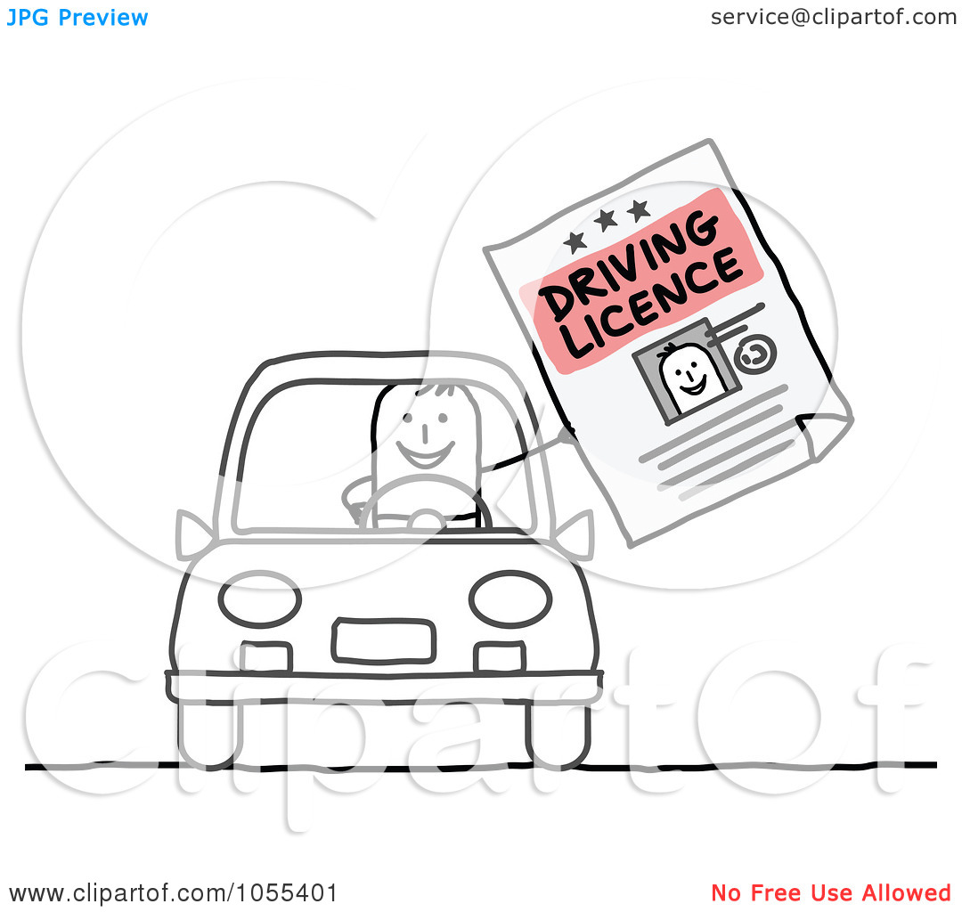 Sample . Drivers license clipart
