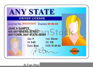 Drivers license clipart clip art. Free images at clker