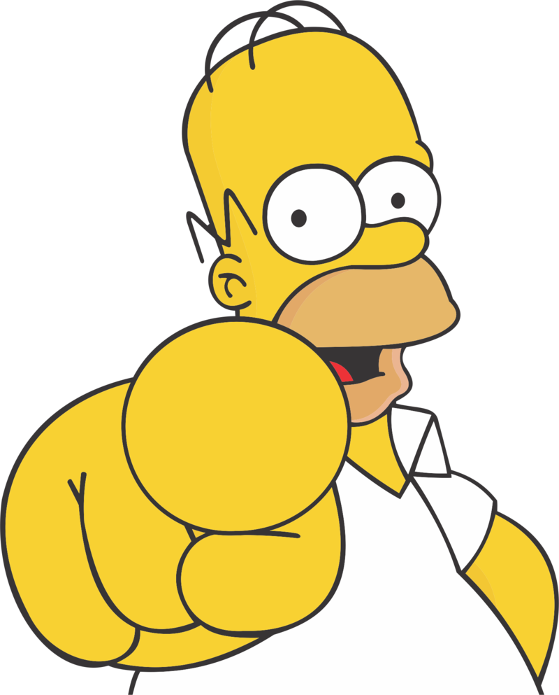 Os simpsons personagens png. Drivers license clipart homer simpson