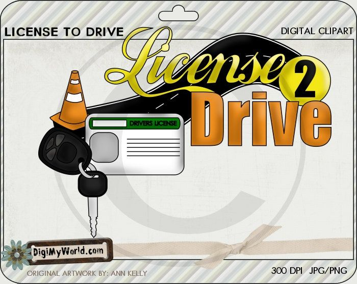 To drive permit teenager. Drivers license clipart learners