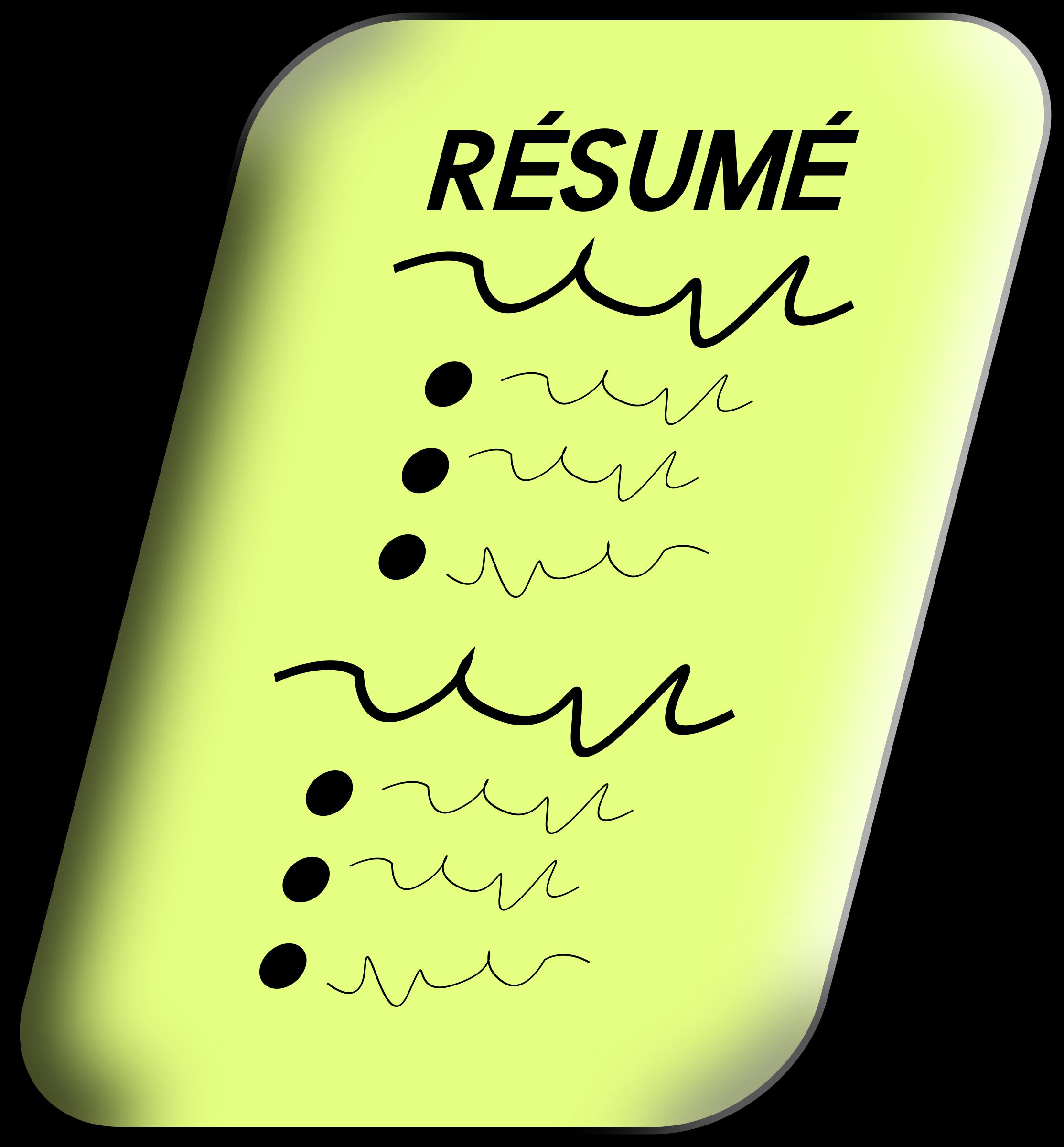 jobs clipart resume