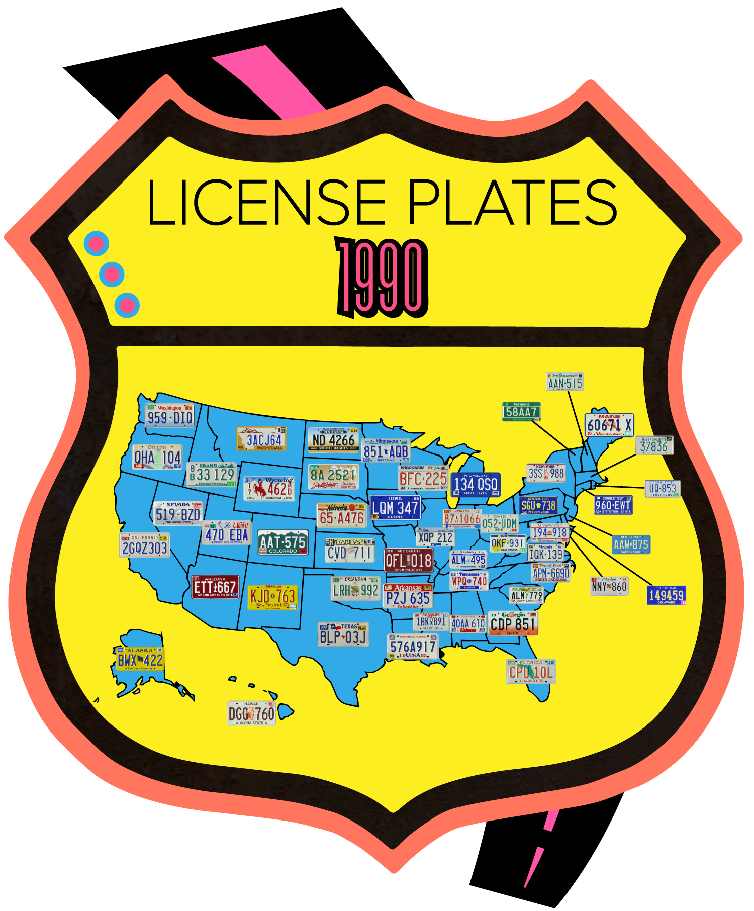 The great american plate. Drivers license clipart patrick