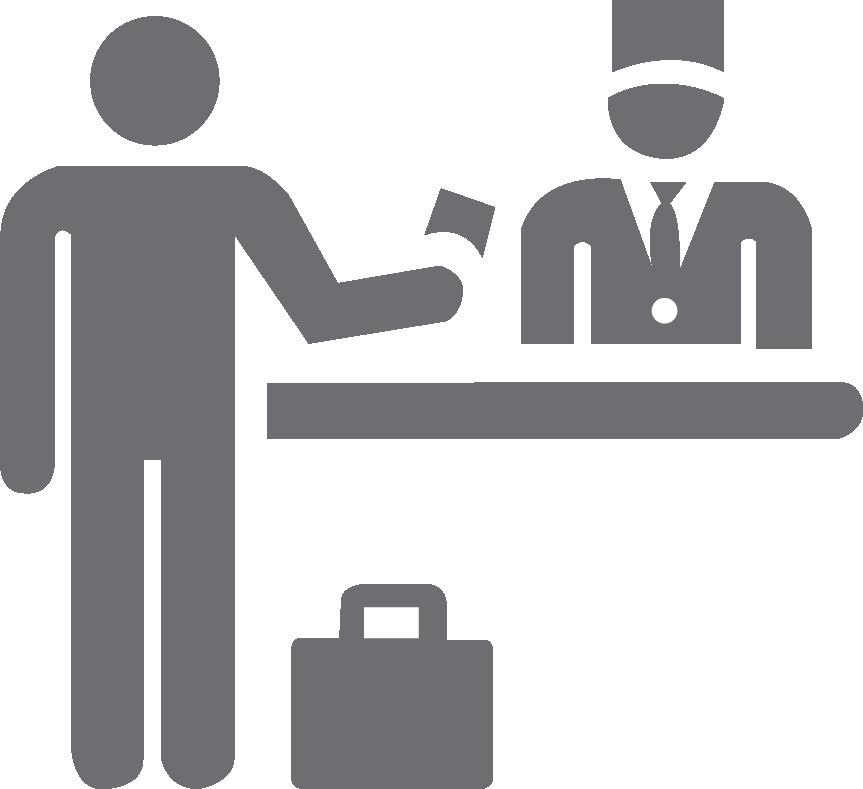 Receptionist hotel telephone operator