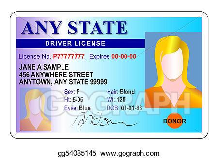 Drivers license clipart transparent. Clip art female stock