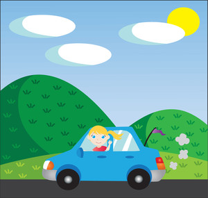 Driving clipart. Free image car illustration