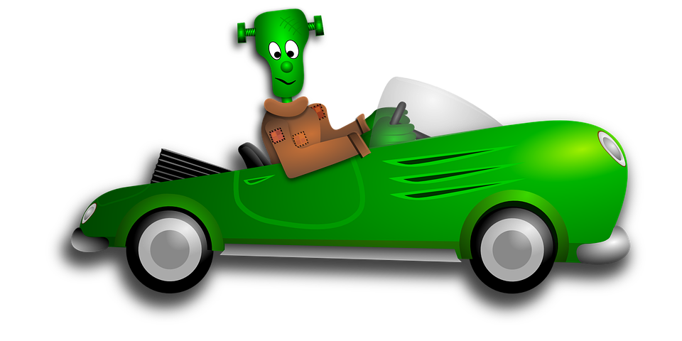 Driving animated free on. Pink clipart halloween