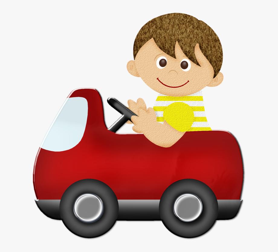 Ferrari cute children car. Driving clipart child