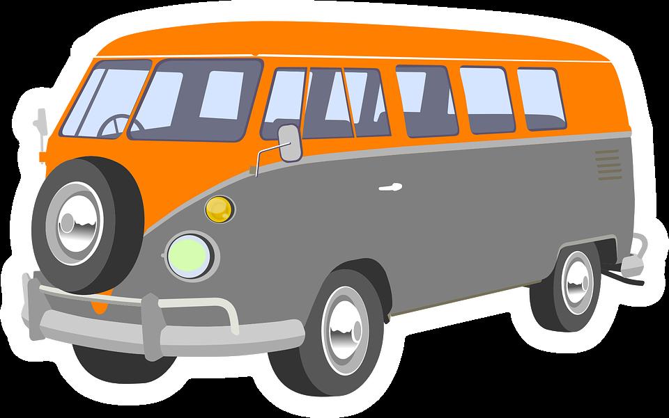 Retro clipart vector. Collection of camper cliparts