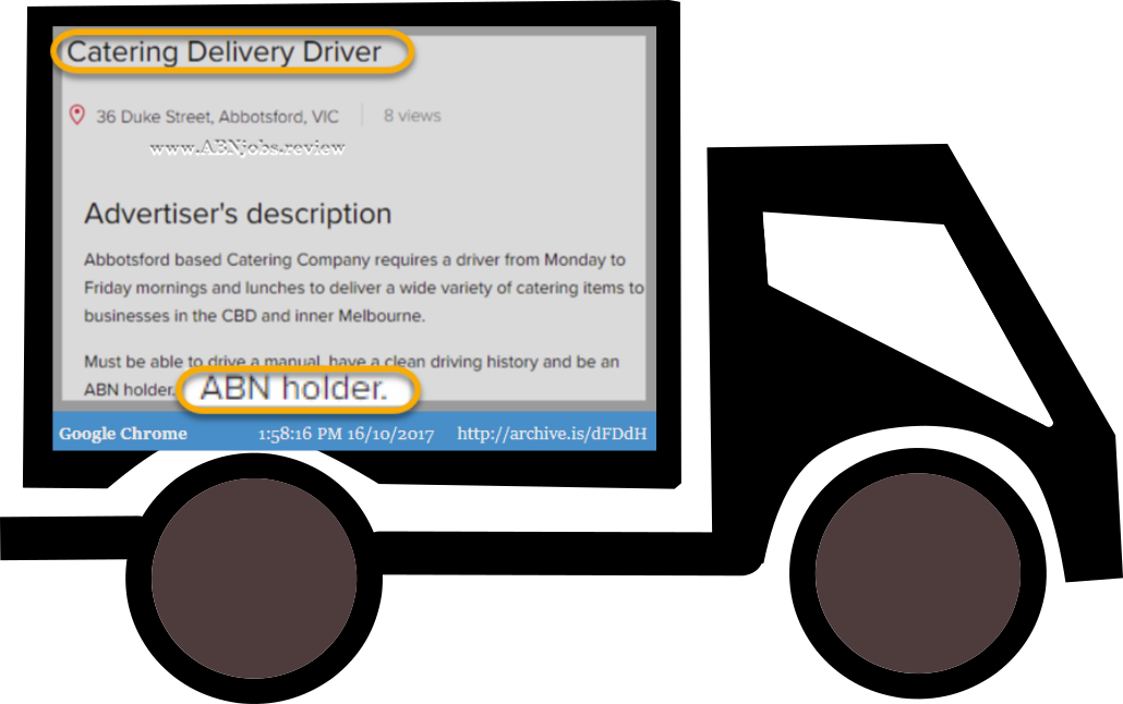 Abn jobs review on. Driving clipart delivery driver