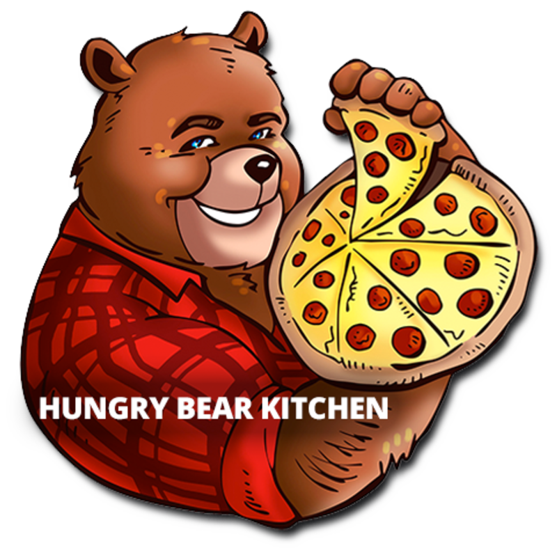 Bear kitchen delivery n. Grilling clipart hungry