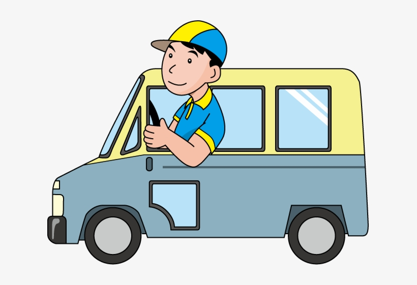 Driving clipart delivery driver. Clip art