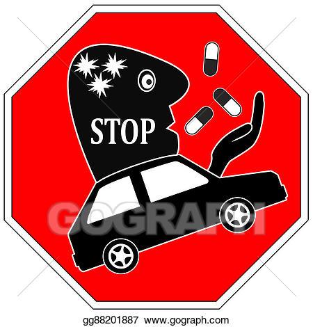 Driving clipart driven. Stock illustration stop drug
