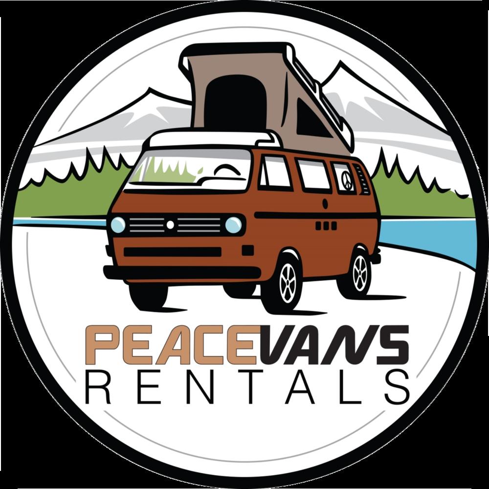 Vw camper van rental. Minivan clipart aerial car