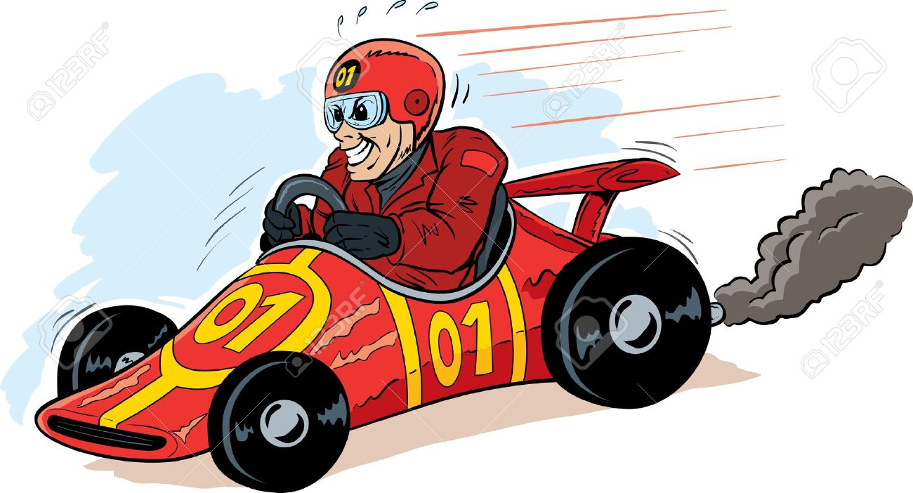 Pictures of a race. Driving clipart fast driver