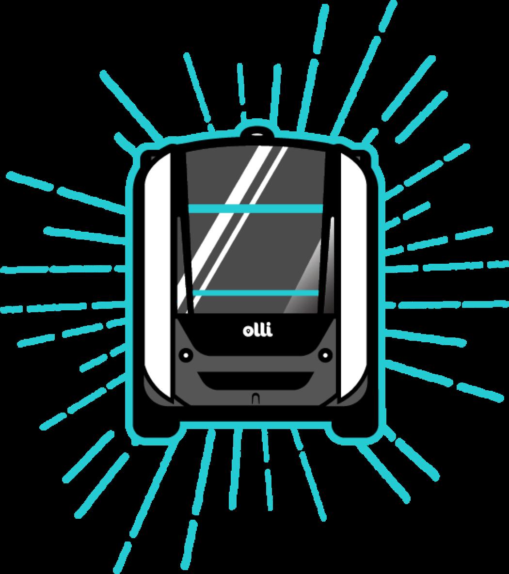 Olli forward thinking transportation. Driving clipart horsepower