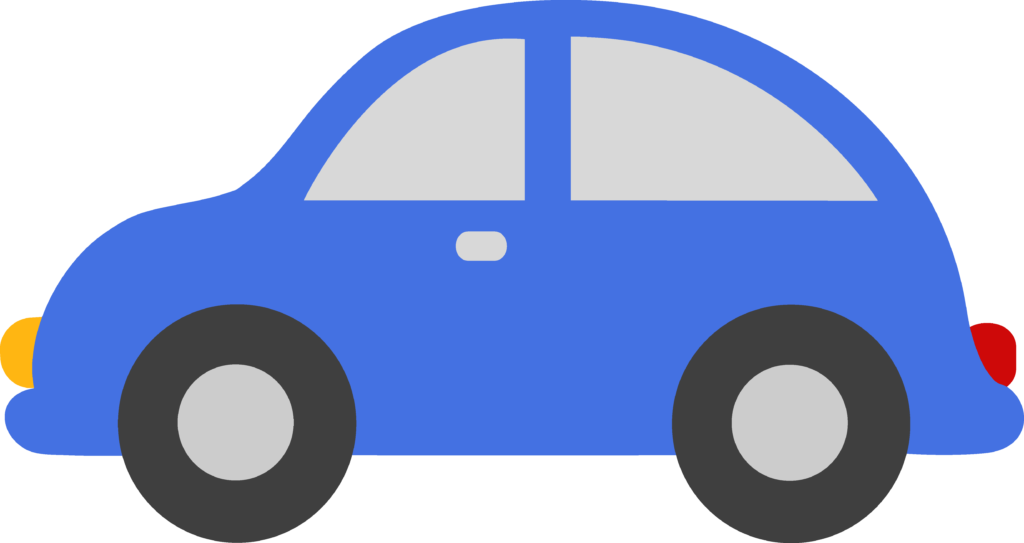 Driving clipart infront.  blue family car