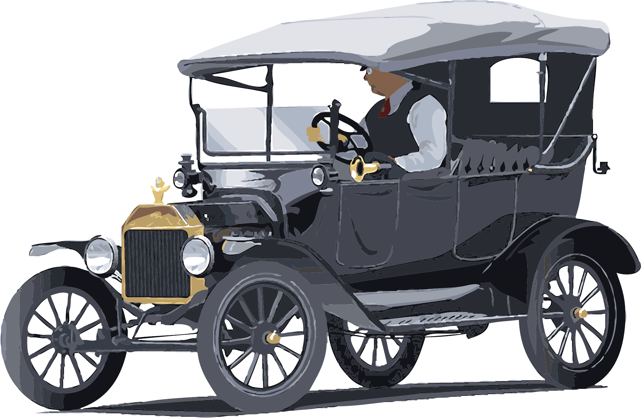 Driving clipart infront. Model t ford touring