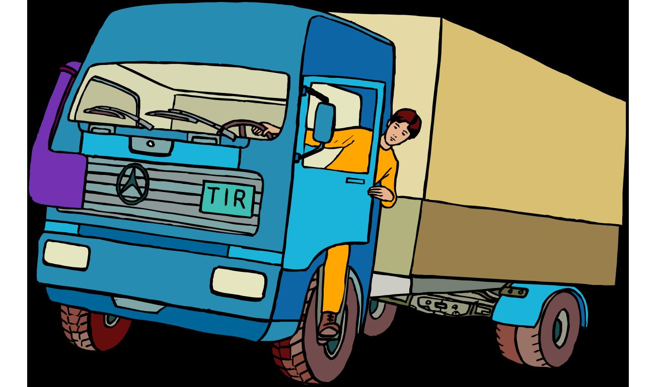 Driving clipart lorry driver. Car dump truck clip