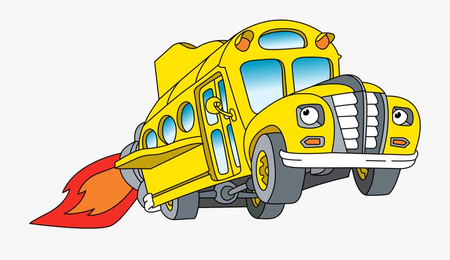 School bus at getdrawings. Driving clipart magic car