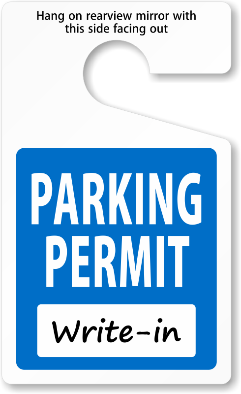 Parking lot clipart parking permit. Do it yourself permits